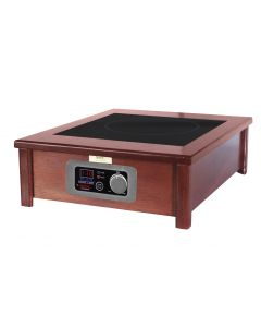 MAX Induction Range (1) 1800W in Wood Cabinet with Smartstone trim