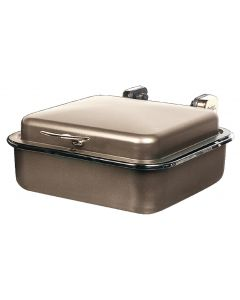 "Seasons Buffet Server, Rectangular, Bronzew/Chrome Accents, 15-3/8"" x 15-5/8"""