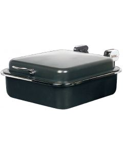 "Seasons Buffet Server, Rectangular, Titanium w/Black Pearl Accents, 15-3/8"" x 15-5/8"""
