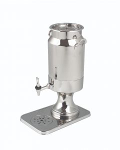 Milk Dispenser w/Drain Base, SS, 5-1/4 Quart
