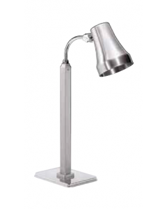 Single Heat Lamp, Stainless Steel, Brushed Finish