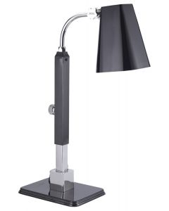 Single Heat Lamp, Stainless Steel, Polished OnyxFinish with additional power receptacle
