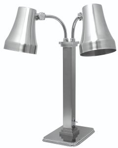 Double Heat Lamp, Stainless Steel, Brushed