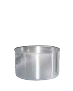 Canister, Stainless Steel, 3 in.  Ht., .75 Liter