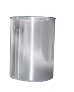 Canister, Stainless Steel, 6.7 in.  Ht., 1.85Liter