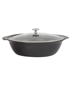 3.75 qt. Large Round Casserole Pan w/Cover