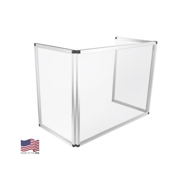 36 Folding Portable Sneeze Guard 24 H