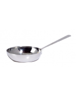 Micro XCESSories Curved Fry Pan, Stainless Steel(set of 4)