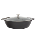 3.75 qt. Large Round Casserole Pan w/Cover