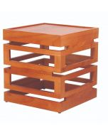 """Wowers, Wood Display Tower, 11 3/4""""H x 11""""W x 11""""D"""
